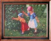 картина, живопись.1..козочки..2..В жаркий день