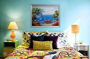 Картина лентами — Морской пейзаж с пальмой