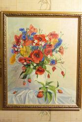 картина букет с ягодами