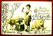 Редкая открытка . «С днем Рождения!» 1903 год.