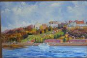 Картина панорама нижегородской набережной