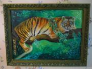 Картина с тигром