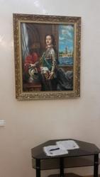 Картина с изображением Петра Первого