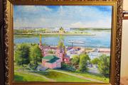 Продам картину с Нижним Новгородом вид на Стрелку