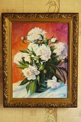 Продам яркую картину с цветами пионы