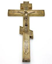 Старинный напрестольный крест. Серебро «84». Фабрика Алексеева И. 1890